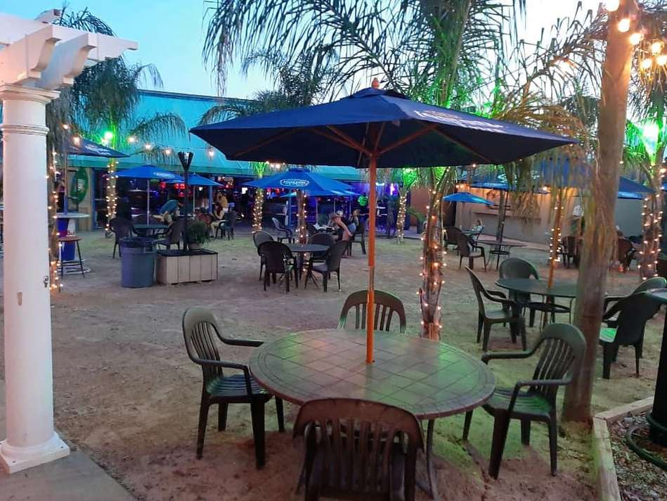 Outdoor Seating and Bar at Cancun Cantina